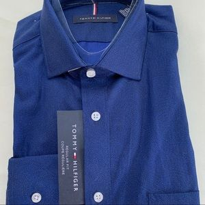 NEW-Tommy Hilfiger-Men Long Sleeve Dress Shirt
